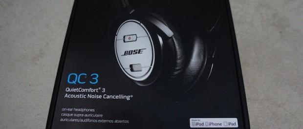 Bose QuietComfort 3 (QC3)と眼鏡の干渉による耳の痛み